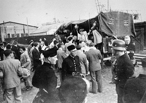 Картинки по запросу «Травники» принимают голландских евреев, лагерь Westerbork, 1943 год